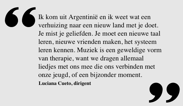 Quote van Luciana Cueto, dirigent